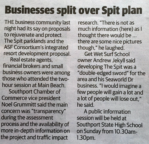 Businesses Split over Spit Plan