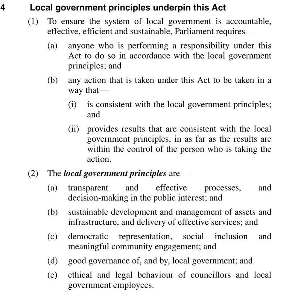 Local Government Principles