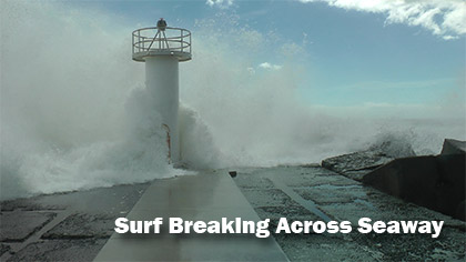 Surf Breaking Across Seaway