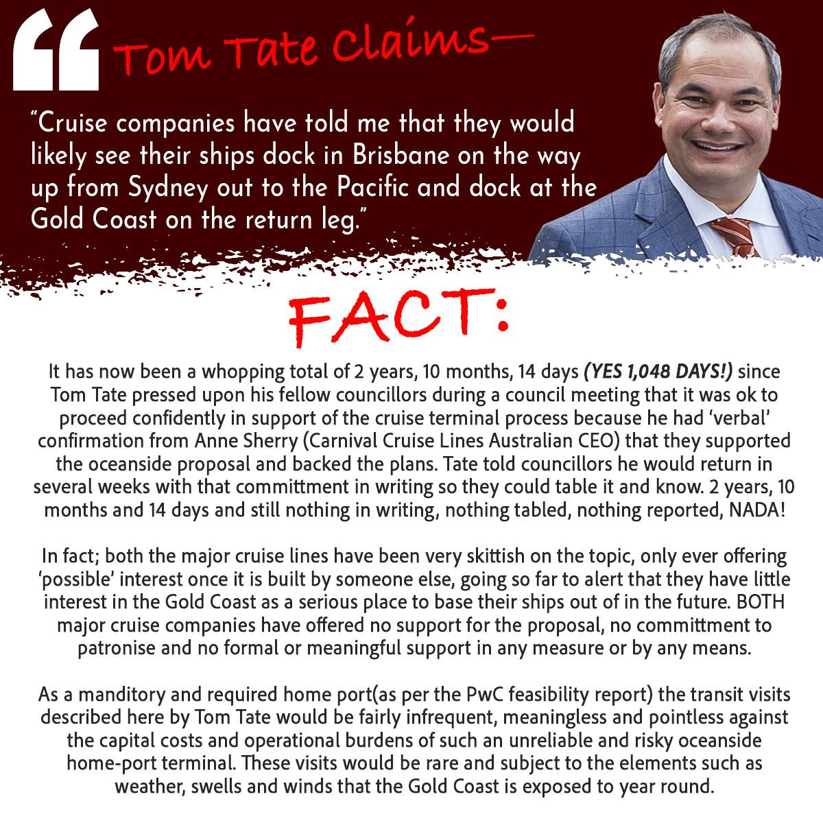 Tom Tate Claims Cruise Companies