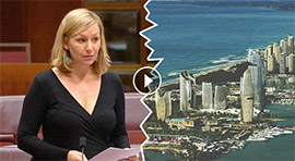 Larissa Waters raises The Spit in the senate