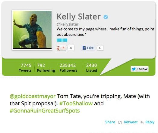 Kelly Slater Supports Save Our Spit