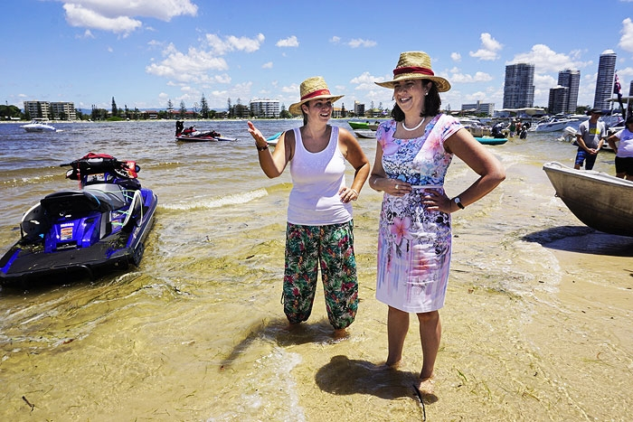 Annastacia Palaszczuk on Wavebreak Island
