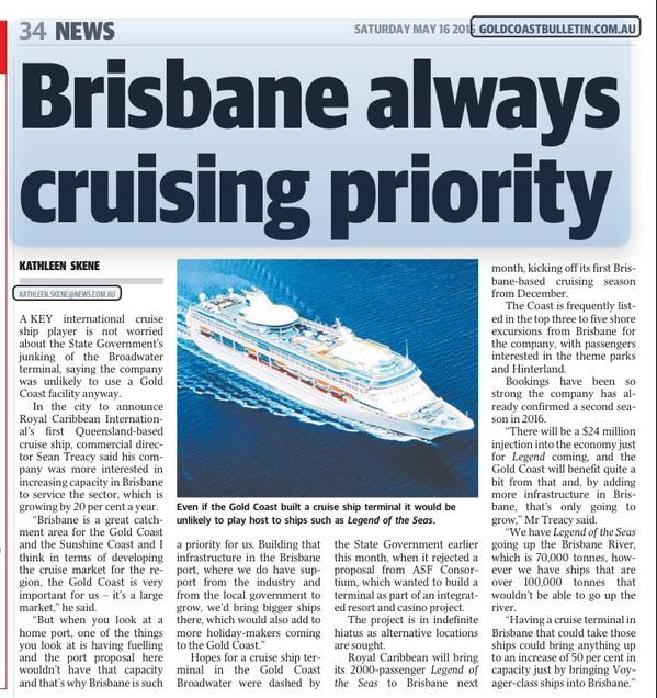 Ships Not Neede on Gold Coast